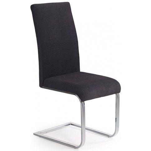Krzesło metalowe Santer - grafitowe w sklepie Edinos.pl