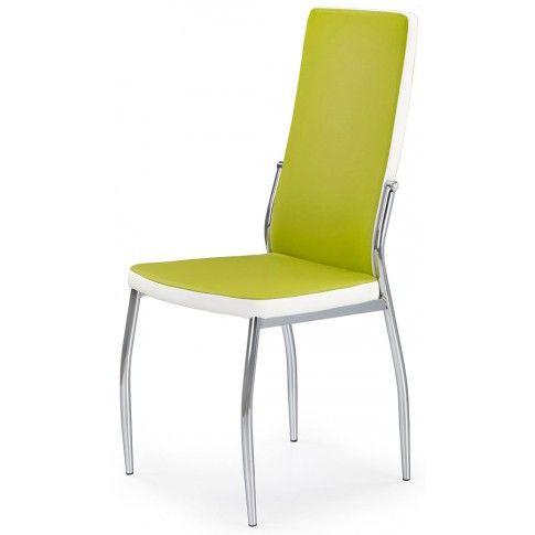 Krzesło tapicerowane Abrim - zielone w sklepie Edinos.pl