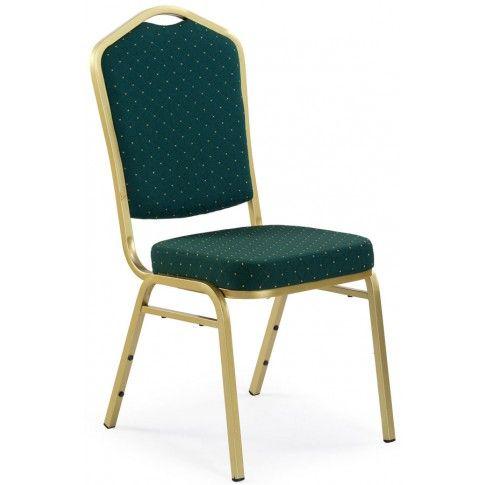 Ozdobne krzesło Abrax - zielone w sklepie Edinos.pl