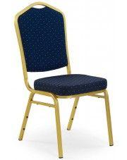 Luksusowe krzesło Abrax - granat + złoty w sklepie Edinos.pl