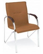 Krzesło biurowe Gardis - brązowe w sklepie Edinos.pl