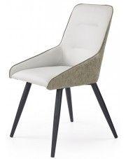Tapicerowane krzesło Ormer - popiel + beton w sklepie Edinos.pl