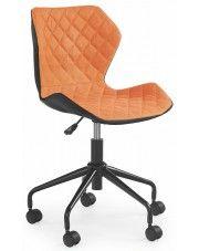 Dziecięcy fotel obrotowy Kartex - pomarańczowy