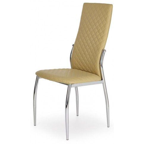 Krzesło tapicerowane Edson - beżowe w sklepie Edinos.pl