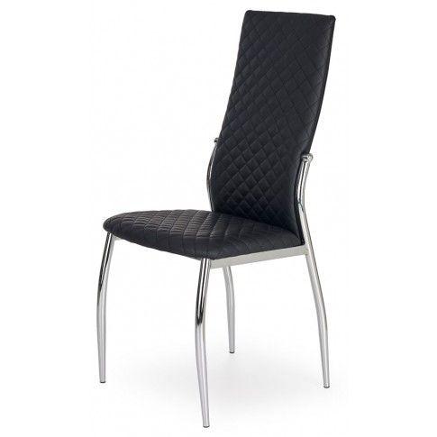 Krzesło tapicerowane Edson - czarne w sklepie Edinos.pl