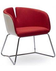Fotel wypoczynkowy Milton - czerwony w sklepie Edinos.pl