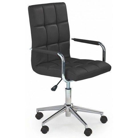 Pikowany fotel dla ucznia Amber 2X - czarny w sklepie Edinos.pl