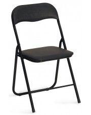 Składane krzesło konferencyjne Arman - czarne w sklepie Edinos.pl