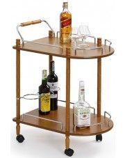 Barowy stolik na kółkach Lifton - buk w sklepie Edinos.pl