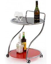 Barowy szklany stolik na kółkach Erfix w sklepie Edinos.pl
