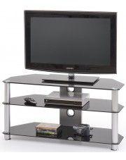 Aluminiowy stolik RTV Silvo - czarny