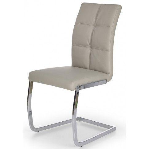 Krzesło tapicerowane Levon - popielate w sklepie Edinos.pl