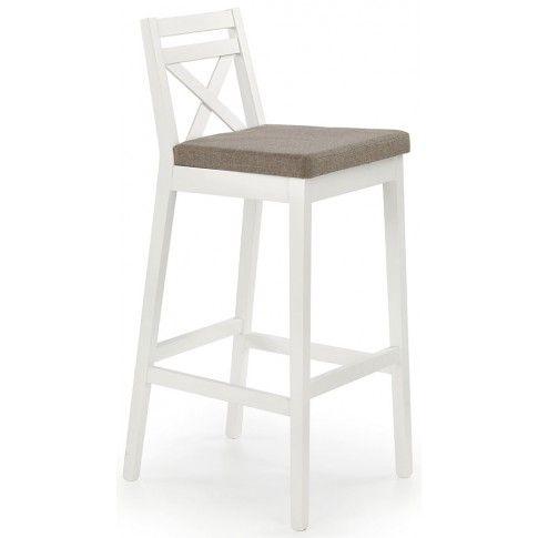 Wysokie krzesło barowe Lidan 2X - białe w sklepie Edinos.pl