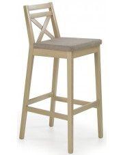 Wysokie krzesło drewniane Lidan 2X - dąb sonoma