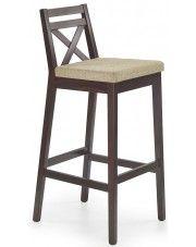 Wysokie krzesło do baru Lidan 2X - ciemny orzech