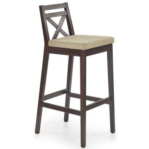 Wysokie krzesło do baru Lidan 2X - ciemny orzech w sklepie Edinos.pl