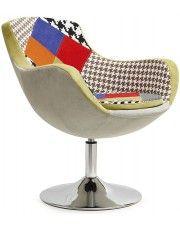 Fotel wypoczynkowy Orion - patchwork w sklepie Edinos.pl