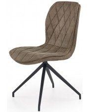 Krzesło tapicerowane Gimer - beżowe w sklepie Edinos.pl