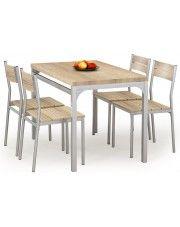 Stół z krzesłami Torino - dąb sonoma