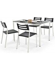Stół z krzesłami Creola - czarny