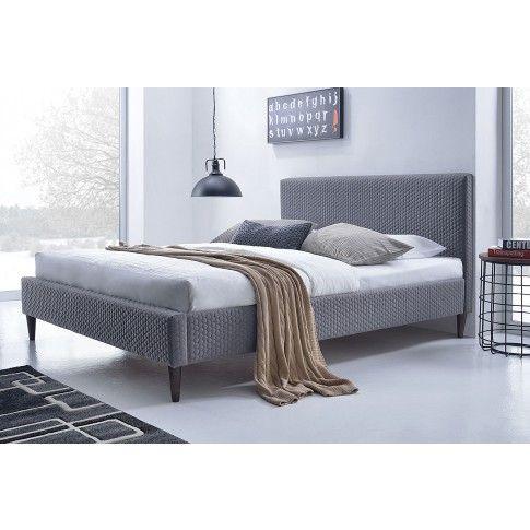 Popielate łóżko Flesti w sklepie Edinos.pl