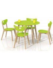 Okrągły stół Inelo S6 - limonkowy w sklepie Edinos.pl