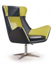 Fotel wypoczynkowy Alexin - czarno-zielony w sklepie Edinos.pl