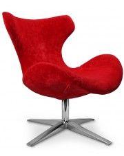 Fotel wypoczynkowy Lexus - czerwony w sklepie Edinos.pl
