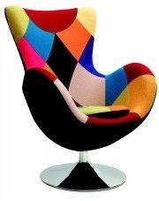 Ekskluzywny fotel wypoczynkowy Zoltis - patchwork w sklepie Edinos.pl