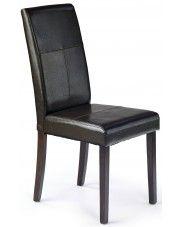 Krzesło tapicerowane Corel - brązowe w sklepie Edinos.pl