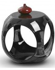 Okrągły stolik kawowy Amor - czarny połysk