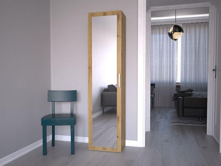 Wąska szafa z lustrem do przedpokoju Kaya
