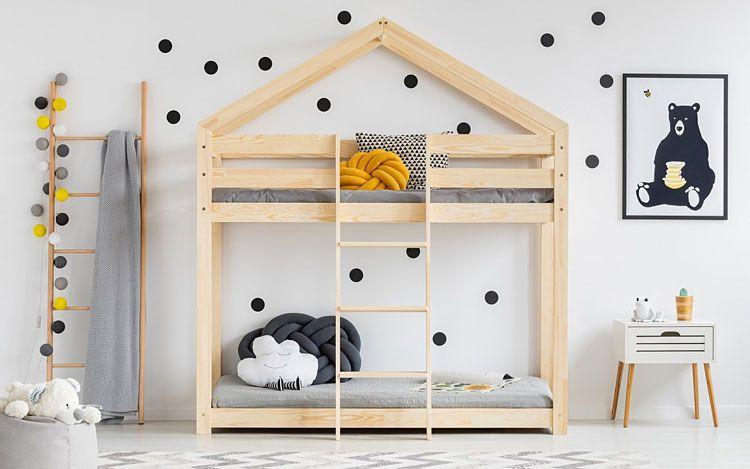 Drewniane łóżko domek piętrowe Miles 6X