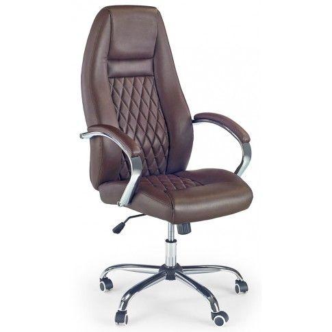 Zdjęcie produktu Fotel obrotowy Xeron - ciemny brąz.