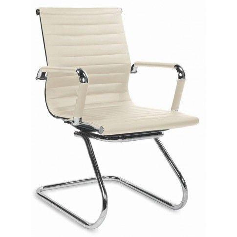 Zdjęcie produktu Fotel konferencyjny Miglin - beżowy.