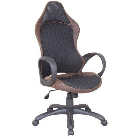 Zdjęcie produktu Fotel obrotowy Lenton - czarny + brąz.