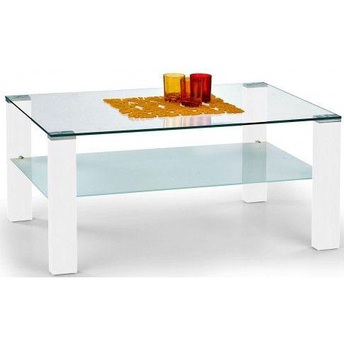 Zdjęcie produktu Lakierowana szklana ława Sonea - biały połysk.