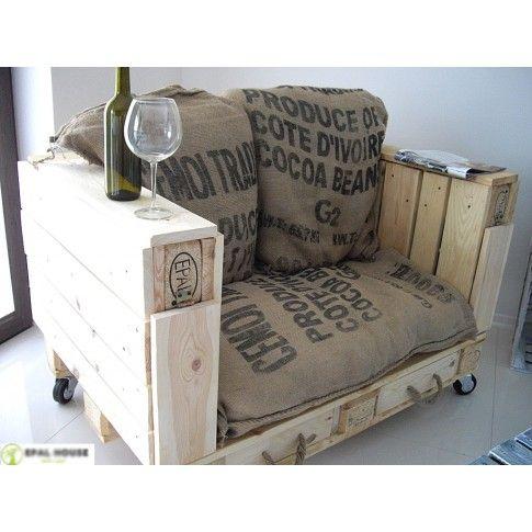 Zdjęcie produktu Fotel z palet na kółkach Palletis.