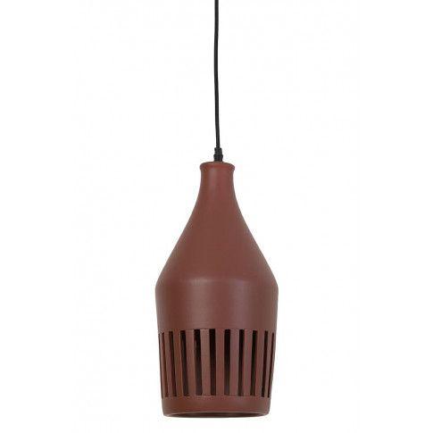 Zdjęcie produktu Ceramiczna lampa wisząca Elda - brązowa.