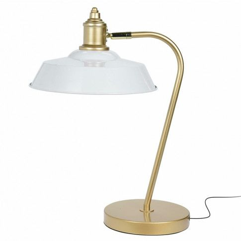 Zdjęcie produktu Retro lampa stołowa Dimea - biała.