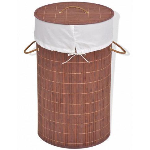 Zdjęcie produktu Pojemnik na pranie okrągły Lavandi 2X- brązowy.