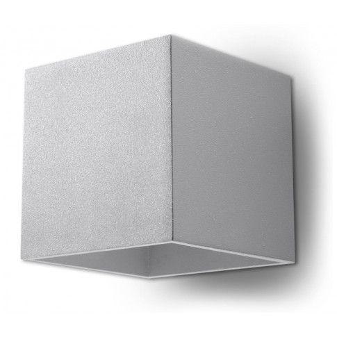 Zdjęcie produktu Minimalistyczny kinkiet ledowy E716-Quas - szary.