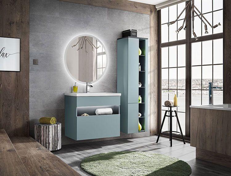 Zestaw mebli łazienkowych z podświetlaniem Monako