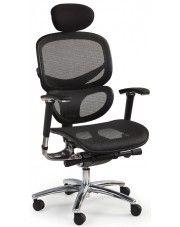 Fotel obrotowy z wysuwanym siedziskiem Kalen - czarny