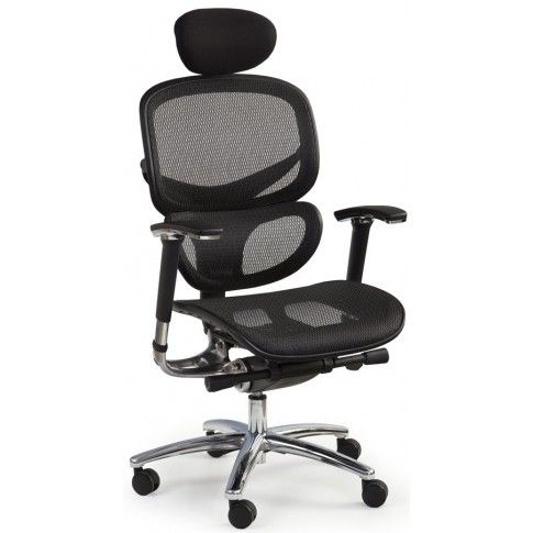 Zdjęcie produktu Fotel obrotowy z wysuwanym siedziskiem Kalen - czarny.