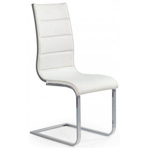 Zdjęcie produktu Krzesło metalowe Baster - białe + popiel połysk.
