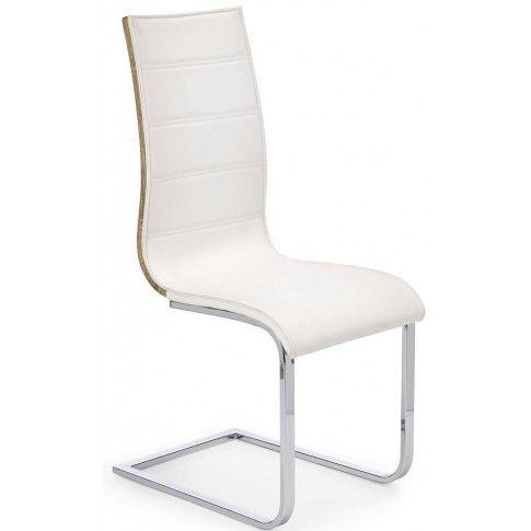 Zdjęcie produktu Krzesło metalowe Baster - białe + dąb sonoma.