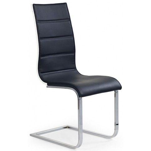 Zdjęcie produktu Krzesło metalowe Baster - czarne + biały połysk.