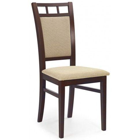 Zdjęcie produktu Krzesło drewniane Miguel - ciemny orzech.