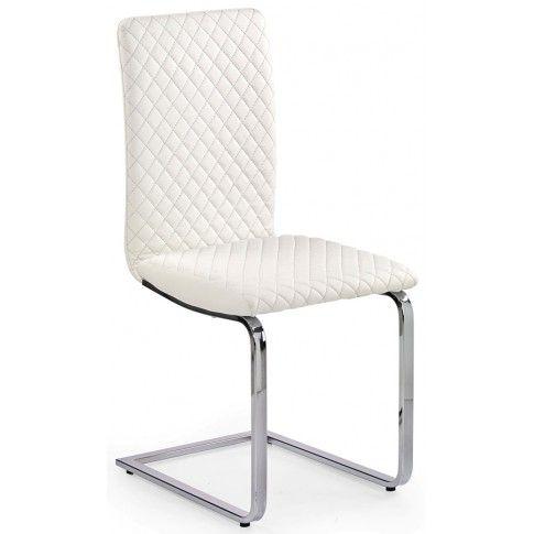Zdjęcie produktu Krzesło pikowane Dimon - białe.
